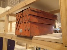 Red cantilever toolbox with no contents. Not available for in-house P&P.