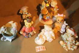 Seven Cherished teddies and similar. Not available for in-house P&P