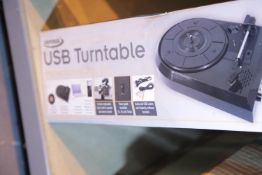 Boxed USB turntable. Not available for in-house P&P.