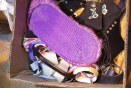 Box of ladies fashion belts. Not available for in-house P&P.