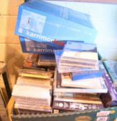Box of mixed DVDs and CDs, mixed types and genres. Not available for in-house P&P.