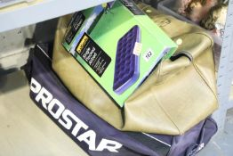 Two modern holdalls and an airbed and groundsheet. Not available for in-house P&P