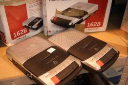 2 x GPO cassette player / recorder; GPO162B; boxed; In working order. Not available for in-house P&P