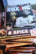 Quantity of mixed boxing magazines. Not available for in-house P&P