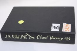 First edition of JK Rowling the Casual Vacancy hardback book. P&P Group 1 (£14+VAT for the first lot
