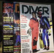 Quantity of mixed diving magazines. Not available for in-house P&P