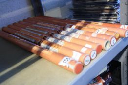 Nine Sunflex glass fire elements 17 3/4 to 22 3/4. Not available for in-house P&P.