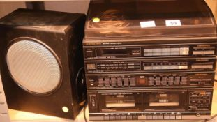 Memorex stereo system and speaker. Not available for in-house P&P Condition Report: All electrical