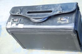 "Black Attache case with combination lock ""000"". Not available for in-house P&P"