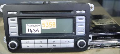 UW RCD 300 car CD/radio and Sanyo FT888 8 track cartridge player. Not available for in-house P&P