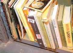 Shelf of mixed cooking related books. Not available for in-house P&P