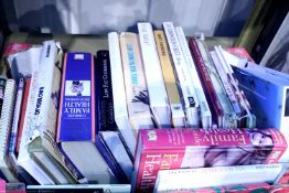 Box of hardback books, mainly gardening, medical and cooking. Not available for in-house P&P