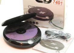 GPO Discman, portable CD player; 3.5mm earphone jack & 4.5V DC in Jack; 60 sec. Anti-Shock function;