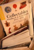 Box containing predominantly Millers Antiques hardback books, volumes include price guides,