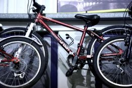"""Children's Apollo Cosmo 18 speed mountain bike with 14"""" frame. Not available for in-house P&P"""