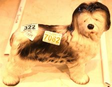 """Melba Ware ceramic old english sheep dog, H: 8"""". Not available for in-house P&P"""