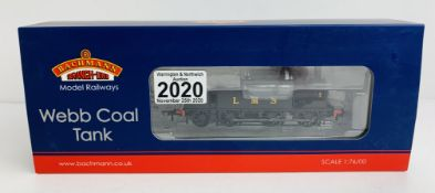 Bachmann 35-051 LNWR Webb Coal Tank LMS Black - Boxed. P&P Group 1 (£14+VAT for the first lot and £