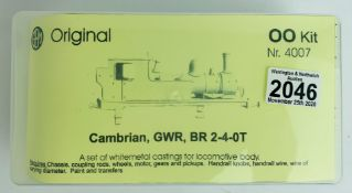 GEM Original OO Kit 4007 Cambrian GWR BR 2-4-0T - Contents Unchecked - Appear Complete. P&P Group
