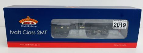 Bachmann 32-830A Ivatt Class 2MT LMS Black - Boxed. P&P Group 1 (£14+VAT for the first lot and £1+