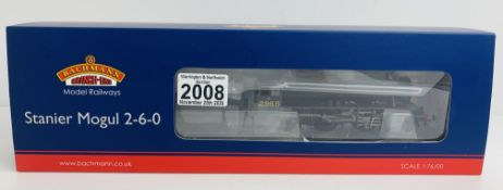 Bachmann 31-690 Stanier Mogul LMS Lined Black - Boxed. P&P Group 1 (£14+VAT for the first lot and £