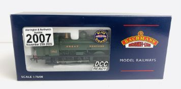 Bachmann 32-204 8750 Pannier Tank GWR Green - Boxed. P&P Group 1 (£14+VAT for the first lot and £1+