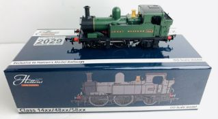 Hattons OO H1401 Class 48XX 0-4-2 GWR Unlined Green Loco - Boxed. P&P Group 1 (£14+VAT for the first
