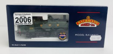 Bachmann 32-210 5700 Pannier Tank GWR Green - Boxed. P&P Group 1 (£14+VAT for the first lot and £1+