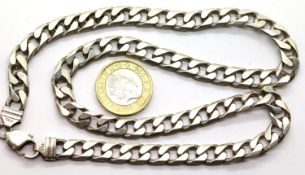 925 silver flat link necklace, L: 50 cm, 61g. P&P Group 1 (£14+VAT for the first lot and £1+VAT