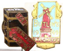 Two early Butlins badges, Skegness 1949 and 1951. P&P Group 1 (£14+VAT for the first lot and £1+