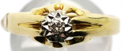 Gents 18ct gold diamond set ring, size U, 4.0g. P&P Group 1 (£14+VAT for the first lot and £1+VAT