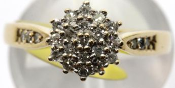 Ladies vintage diamond ring, size M, 2.7g. P&P Group 1 (£14+VAT for the first lot and £1+VAT for