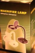 Magnifying lamp, new and unused. Not available for in-house P&P