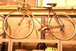 "Retro Peugeot Prologue 10 speed racing bike with 23"" frame. Not available for in-house P&P"