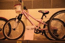 "Myotic Mystic Girl pink 5 speed mountain bike with 10"" frame. Not available for in-house P&P"