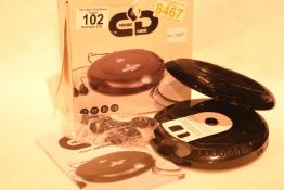 GPO Personal CD player and FM radio. P&P Group 1 (£14+VAT for the first lot and £1+VAT for