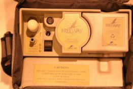 Cased freeway lite compressor. P&P Group 2 (£18+VAT for the first lot and £3+VAT for subsequent