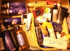 Tray of unused/part used cosmetic items. Not available for in-house P&P