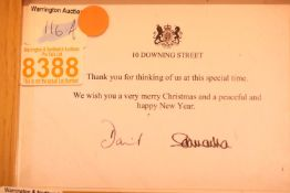 Undated Christmas letter from ex Prime Minister David Cameron and his wife. P&P group 1 (£14 + VAT