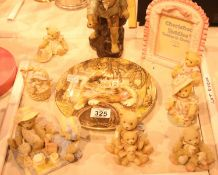 Mixed lot of ceramics and Cherished Teddies. Not available for in-house P&P