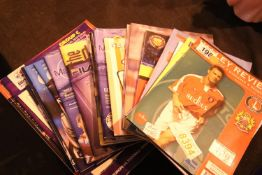 Selection of mixed football programmes including Liverpool, Manchester City and Manchester United.