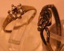 Two ladies fashion rings. P&P Group 1 (£14+VAT for the first lot and £1+VAT for subsequent lots)