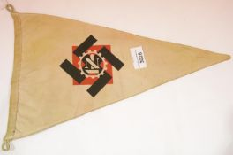 German WWII type TENO pennant, L: 37 cm. P&P Group 1 (£14+VAT for the first lot and £1+VAT for