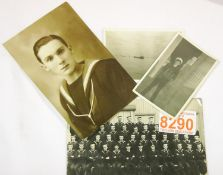Photographs including crow of HMS Vincent April 1943 and others. P&P Group 1 (£14+VAT for the