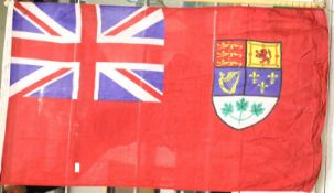 Canadian WWII type flag bearing stamps for Ottawa and dated 1943, 150 x 90 cm. P&P Group 1 (£14+