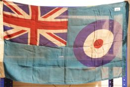 British WWII style RAF Squadron flag, bearing stamp AM 1940, 90 x 50 cm. P&P Group 1 (£14+VAT for