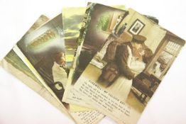 Eleven British WWI type postcards, some used. P&P Group 1 (£14+VAT for the first lot and £1+VAT