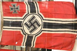 German WWII type battleflag, 150 x 90 cm. P&P Group 1 (£14+VAT for the first lot and £1+VAT for