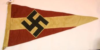 German Third Reich type Hitler Youth pennant, L: 54 cm. P&P Group 1 (£14+VAT for the first lot