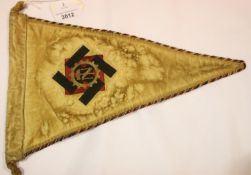 German WWII type TENO pennant, L: 34 cm. P&P Group 1 (£14+VAT for the first lot and £1+VAT for