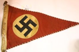 German Third Reich type NSDAP Party pennant, stamped and dated 1934, L: 38 cm. P&P Group 1 (£14+